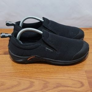 Merkel Black Performance Slipon Shoes